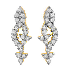 Diamond Earrings - BATS034ER, si - ijk, 14 kt