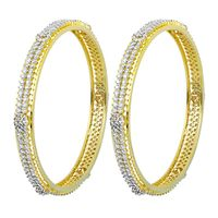 Sequence Diamond Bangle Kada-RBA0053, vvs-gh, 18 kt