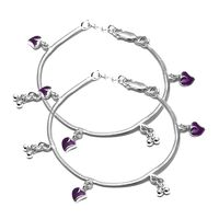Marvelous Silver Anklets For Baby Girl-ANK066