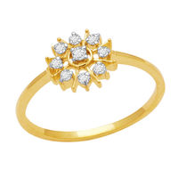 Pretty Diamond Ring - DAR070, si - ijk, 12, 18 kt