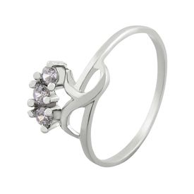 Lovely Zircon Silver Finger Ring-FRL058
