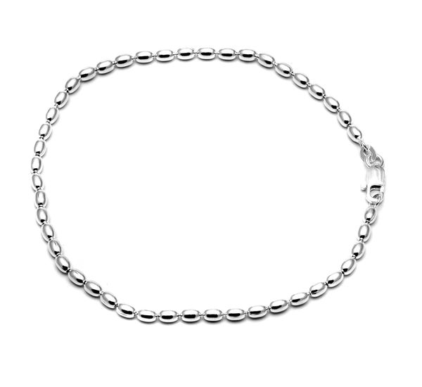 foot ankle girls anklet silver for product rose heart from beads anklets women gift new nice sterling simple unique ladies chain sexy jewelry