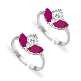 Enticing Leaf Silver Toe Ring-TR425