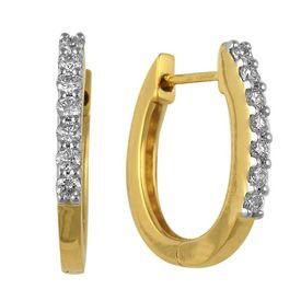Folded Diamond Earrings- BAER0897