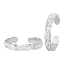 Pretty Plain Comfortable Silver Toe Ring-TRRD036