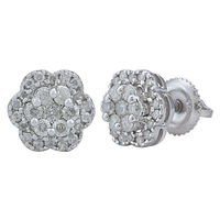 Diamond Earrings - AMER0576A, si - ijk, 18 kt
