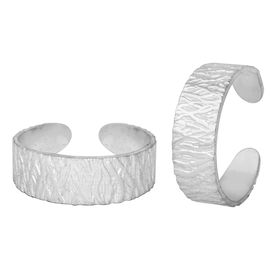 Curvy Silver Toe Ring-TRRD009