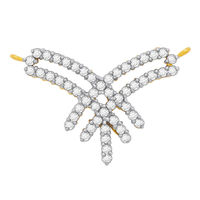 Diamond Mangalsutra - BATS116T, si - ijk, 14 kt
