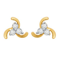 Cute Earrings - BAPS184ER, si - ijk, 18 kt