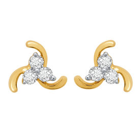 Cute Earrings - BAPS184ER, si - ijk, 14 kt