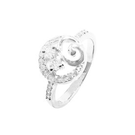 Beautifully Crafted Zircon Silver Finger Ring-FRL112
