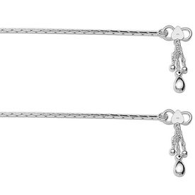 Incredible Cutwork Chain Sterling Silver Anklets-ANK069