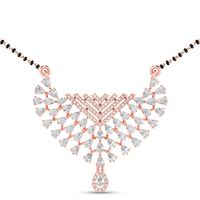Meshed Crossover Diamond Mangalsutra-RMP00211, vvs-gh, 18 kt