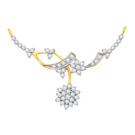 Flower Diamond Mangalsutra- BATS58T
