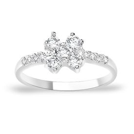 Magnetic White CZ Silver Finger Ring-FRL056, 12