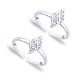 Charming Zircon Silver Toe Ring-TR124