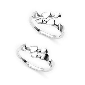 Mesmering Top Openable Silver Toe Ring-TR172