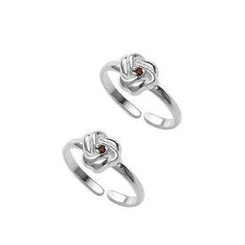 Floral Zircon Silver Toe Ring-TR353