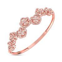 Floral Bouquet Diamond Bracelete- RBR00536, vvs-gh, 18 kt