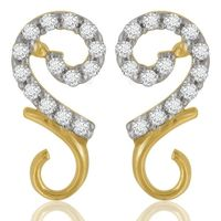 Diamond Earrings - BAPS1237ER, si - ijk, 14 kt