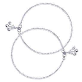 Elegant Box Design Sterling Silver Anklets-ANK076