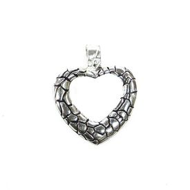 Amazing Cut Work Heart Silver Pendant-PDMX001
