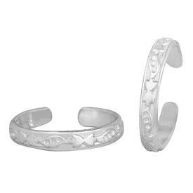 Pretty Plain Designer Silver Toe Ring-TRRD040