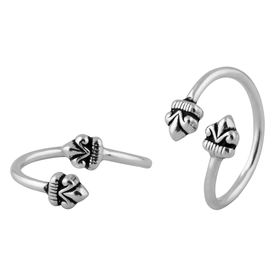 Elegant Top Openable Silver Toe Rings-TRMX075