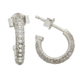 Magnificent Diamond Earrings - AMER0283W, si - ijk, 14 kt