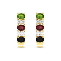 Colourful Diamond Earrings-RBL0050, si-gh, 18 kt