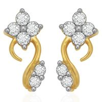 Diamond Earrings - BANS0894ER, si - ijk, 14 kt