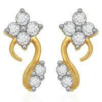Diamond Earrings - BANS0894ER, si - ijk, 14 kt