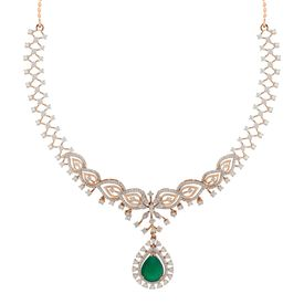 Adora Petals Drop Diamond Necklace-RBN0085