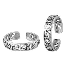 Awesome Cutwork Sterling Silver Toe Ring-TR384