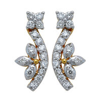 Diamond Earrings - GUTS0214ER, si - ijk, 18 kt