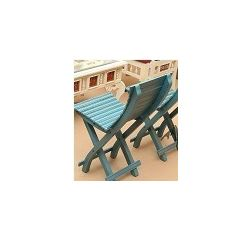 Aakriti Arts Sofa Chair Single Teak Wood Blue, blue, 14 x12 x28  inch