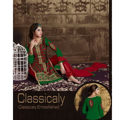 Akiraa Collection Vol 5 Designer Salwar Suit Unstitched Green, green, georgette