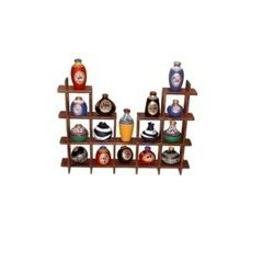 16 Hand Painted Warli Miniature Pots with Sheesham Wood Wall Decor Frame 16S, wooden, 20.5x13x2