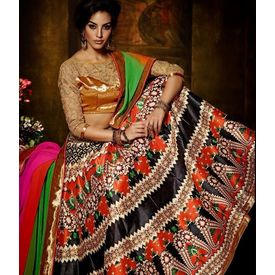 Klaur Collection Designer Lehengas Multicolor, multicolor, bangalore silk