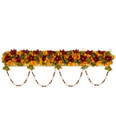 Maroon & Yellow Flower Toran