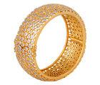 Diamond Infinity Bangle Bracelet, golden
