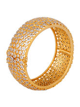 Diamond Infinity Bangle Bracelet, Golden