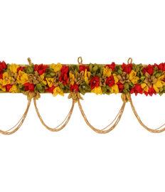 Sunflower Yellow & Red Flower Toran