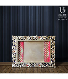 Golden Tray with 2 sides Red Border, red and golden