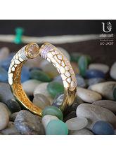 Infinity Bracelet, golden and white