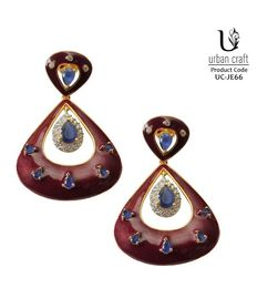 Masakali Maroon Earrings, red