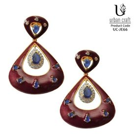 Masakali Maroon Earrings