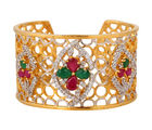 Sparkly Colourful Bracelet, red & green