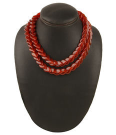 Crimson Glory Duo Necklace, red