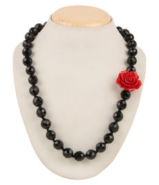 Bora Bora Necklace - Black, black